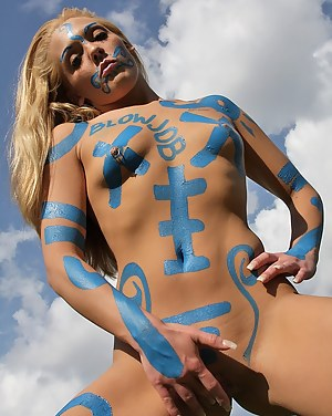 Girls Body Paint Porn Pictures